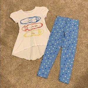 Disney Princess Top and Leggings Set, Small